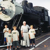 Jack with Grandsons Perry & Kendall, step Grandson Cameron and his friend 7/02/2001 Grand Canyon Train