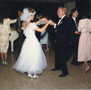 Jack, father of the bride dancing with Dana at her wedding 5/2/1987