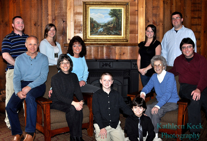 Jean Rose and family - March 2012