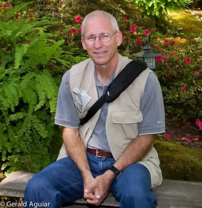 Jenny took this picture of me several years ago at the Butchart Gardens in Victoria.