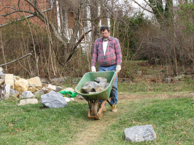 Wheeling Stones for the Amphitheater Berm Wall