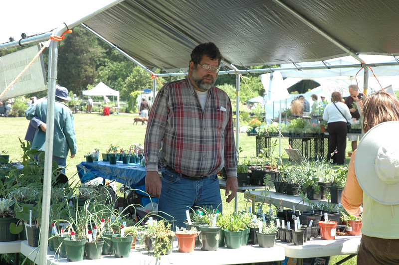 Manning the Rock Garden Society booth at Green Spring Days at Green Spring Gardens in Virginia