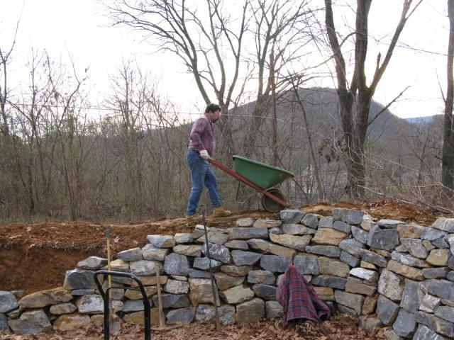Wheeling Soil on the Amphitheater Berm Wall, Virginia in the Distance
