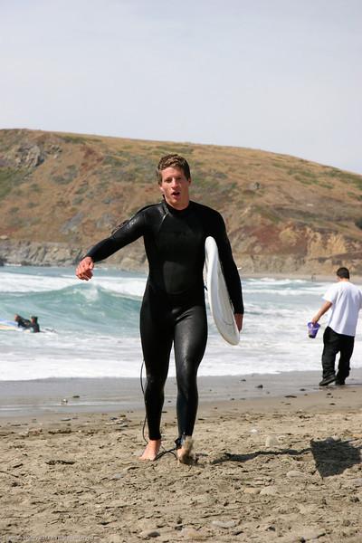 John surfing in SF