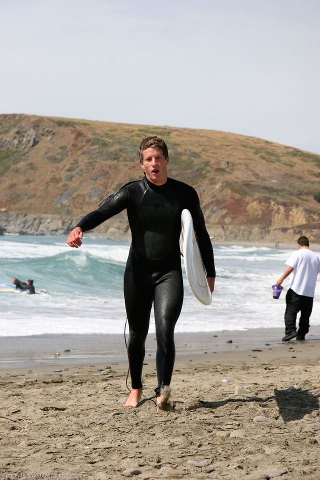 John surfing in SF