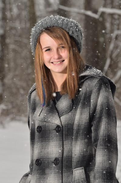 Kierstynn Strange snow portraits