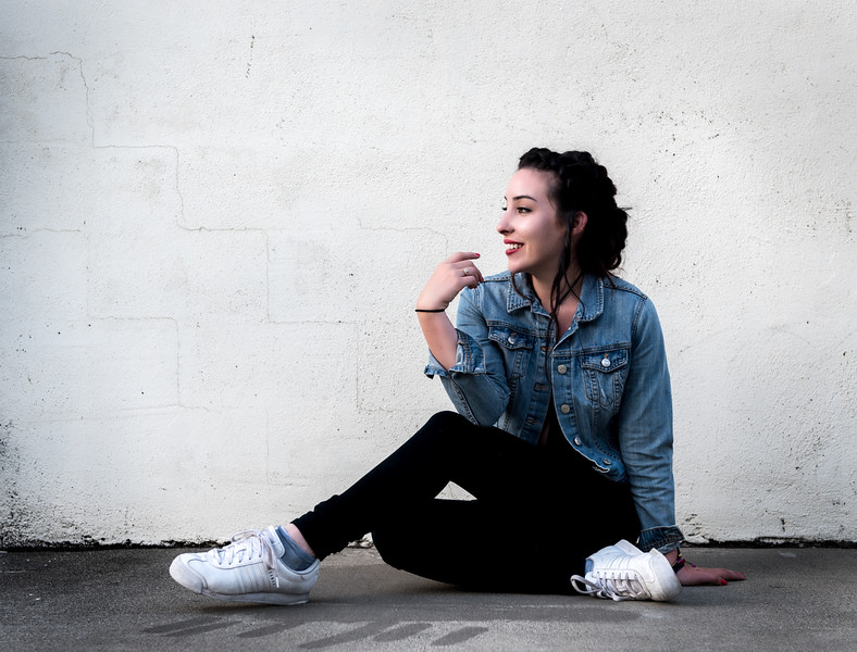 Editorial Headshots of Kelsey Ruiz in  Sacramento California