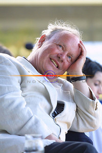 Brendan Kennelly in Listning mode at the opening f the very first Brendan Kennelly Festival in Ballylongford. Pic Brendan Landy