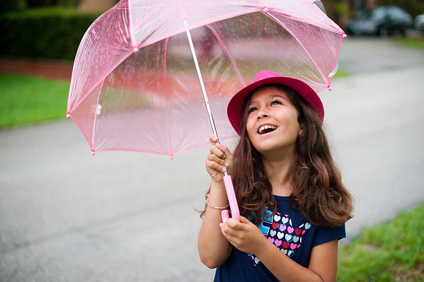 Isabel Plays in the Rain