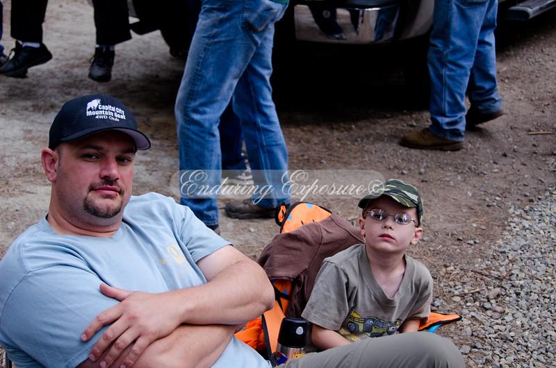 Lex wants those monster trucks Dad! - 2011 Hi Landers Poker Run
