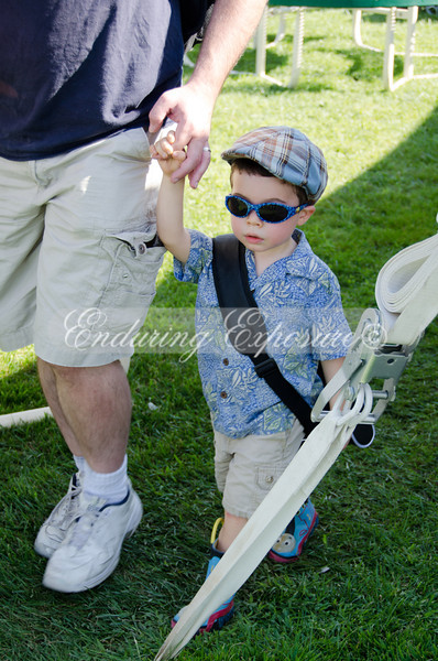Noah walking with Daddy