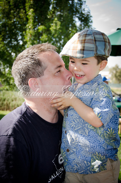 Noah and Daddy being silly