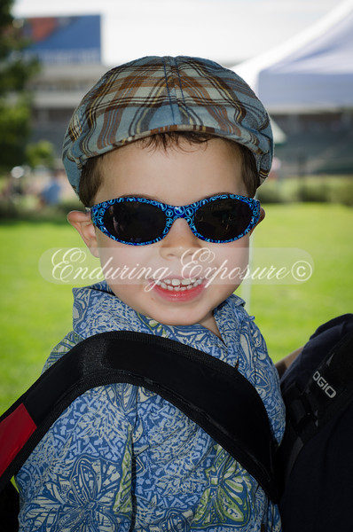 Noah Kido-Batkin with his sunglasses and backpack.  Such a happy camper!