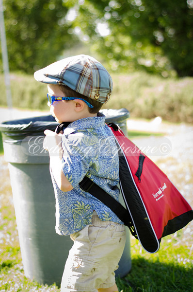 Mr independent, lugging a backpack just like Daddy's