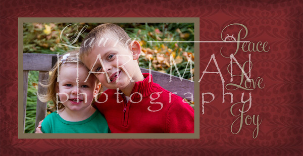 4x8 Christmas Card Option