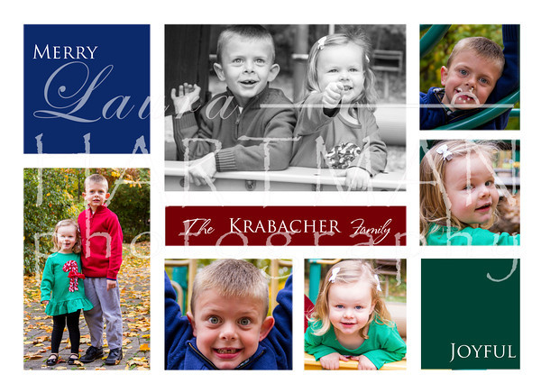 5x7 Christmas Card Option.