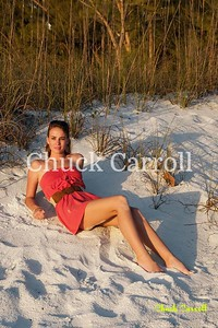 Photo Experience Beach Flash Class - James Johnson  with Alexis Owens at Coquina Beach.