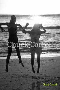 Photo Experience Beach Flash Class - James Johnson  with Alexis Owens at Coquina Beach.