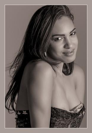 Model: Marlene in glamour photo shoot