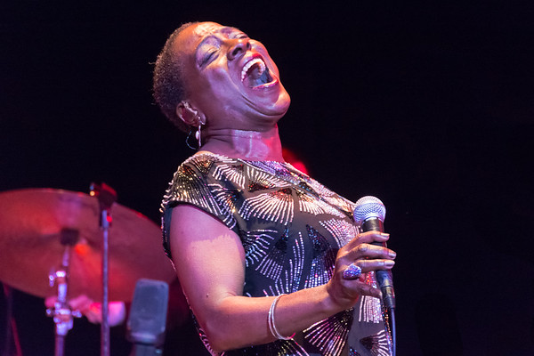 Sharon Jones onstage at the Byham Theater, Pittsburgh, PA