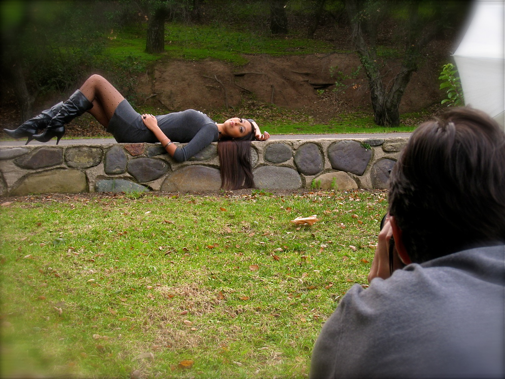 Behind the scenes. Shot by Mike Uribe.