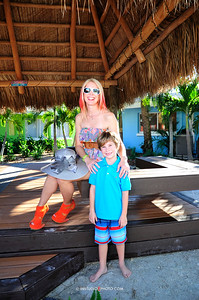 Prince Nathanael Peter & Princess Jenah Victor modeling for Siesta Key Beachside Villas, Sarasota, Florida