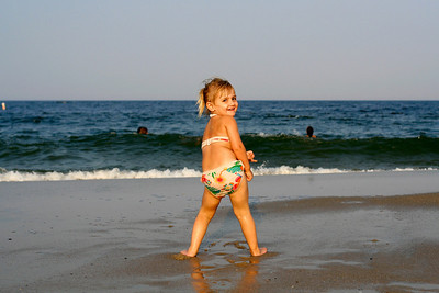 Mackensey at Sandy Hook. 2009.