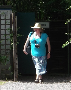 36 - Not really sure why the other half was photographing me emerging from the ladies loos at Amberley! This shot and the next both make me look rather top heavy. I need broader hips!!
