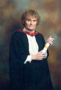 Caroline's MSc graduation photo, 20th July 1995