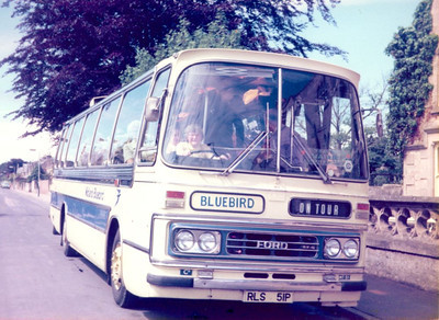 02 - Me behind the wheel of Alexanders (Midland) Ford R1114/Duple RLS51P in Nairn, circa 1976. The coach party was staying in the same hotel as my family, and I suppose it was inevitable that I would befriend the driver and get a photo like this.
