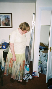 09 - Taken in 2002, not long after I had moved into my house in Carlisle. Here I am staring in despair at the mess around my feet and in the cupboard. A shot which shows off nicely my large nose and matching prominent chin.