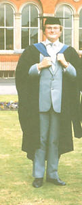 05 - Some other bloke at his graduation ceremony at Salford University in July 1986. The picture looks a little odd as I have cropped it to show only me.
