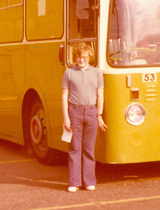 01 - the oldest photo of me in my possession, taken outside LIncoln City Transport's depot. The bus is Roe bodied Leyland Leopard 53 (HVL966G), but I have no idea of the date. My obsession with buses goes back a long way.