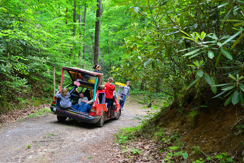Hickory Nut Paddy Wagon Hike at the 1st Annual Hager Anniversary Weekend in Bat Cave, NC