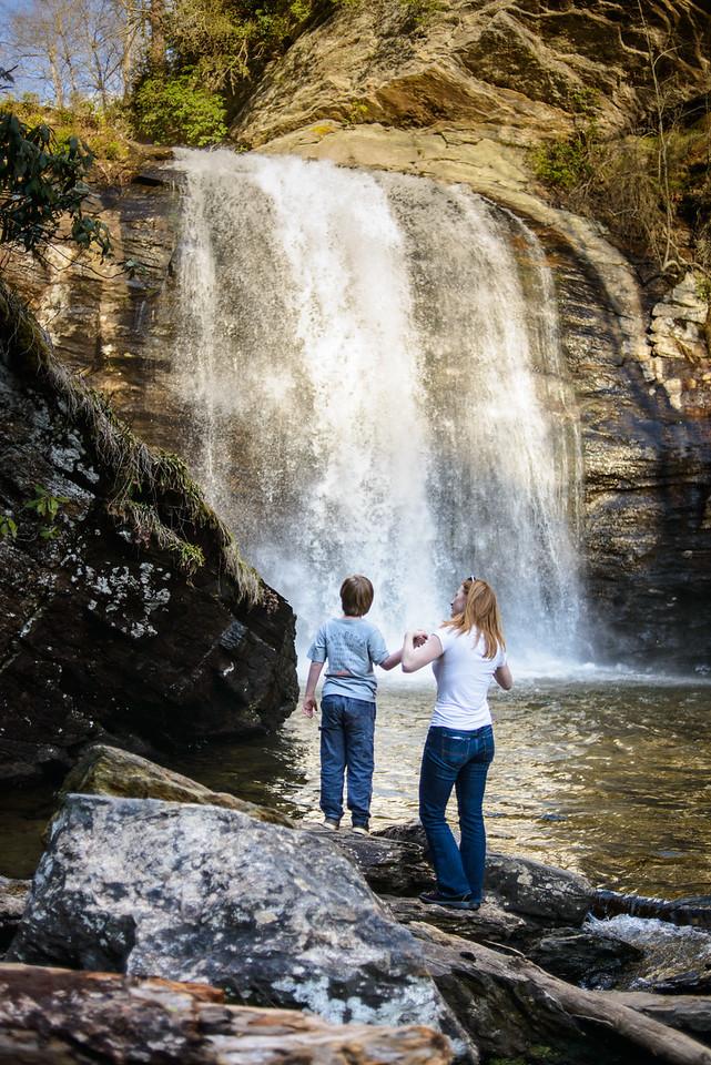 Marisa and Vincent at Looking Glass Falls