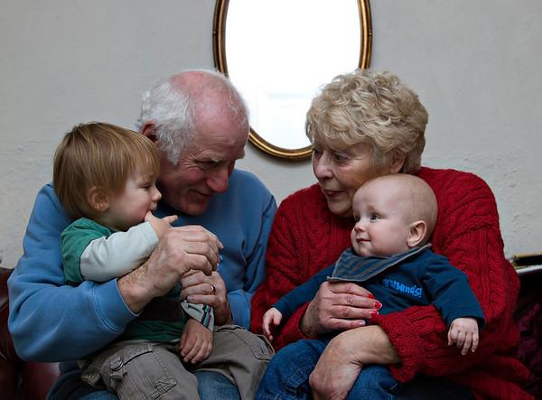Matt, Nan, Gramps and cousins