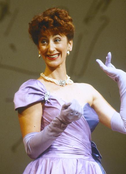 Maureen Lipman performing one woman play 'Rejoyce', London, UK 1991