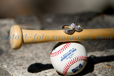 I love this wedding ring shot my clients chose.  A baseball family through and through.