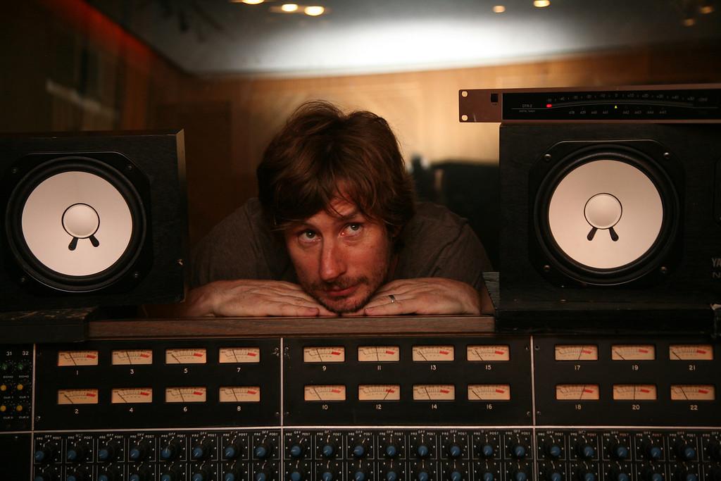 Me at Rak studios in 2010, photographed by Paul O'Duffy