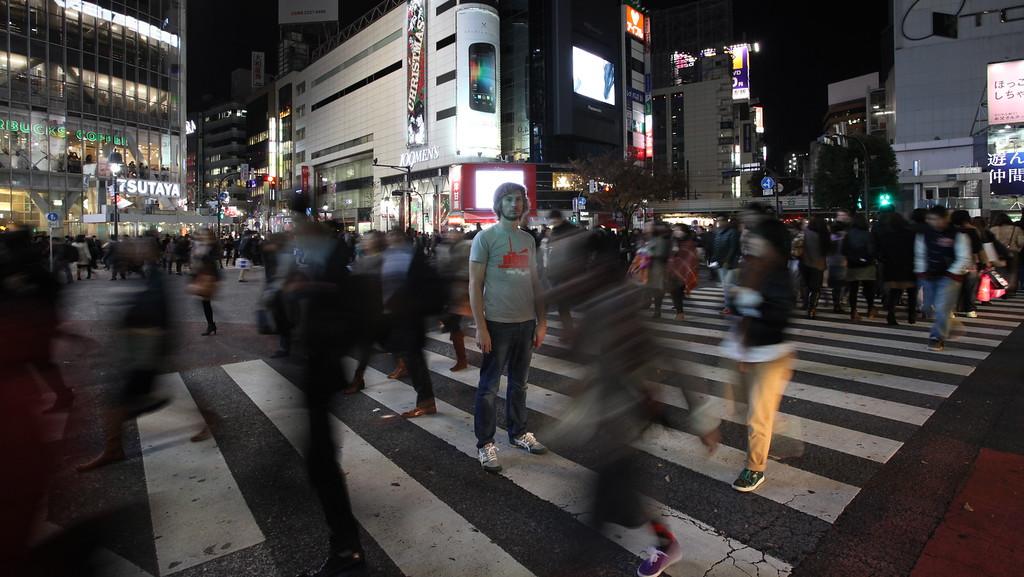 Self-Portrait, Shibuya, Tokyo 2011