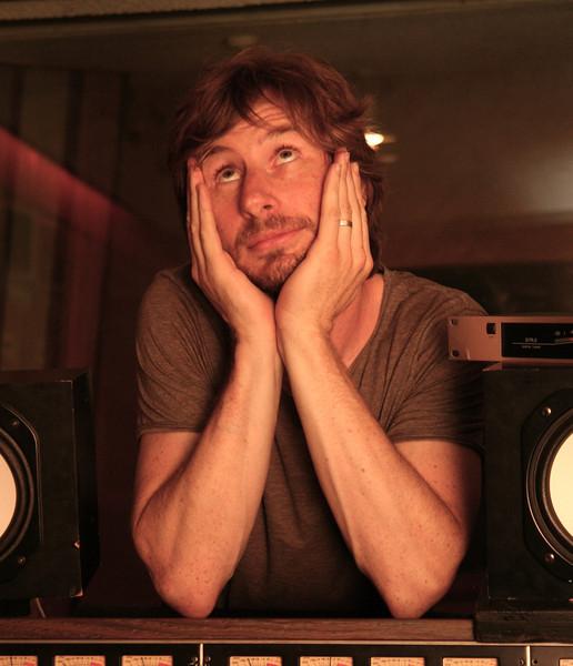Me at Rak studios in London in 2010, photographed by Paul O'Duffy