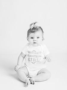 baby girl in studio