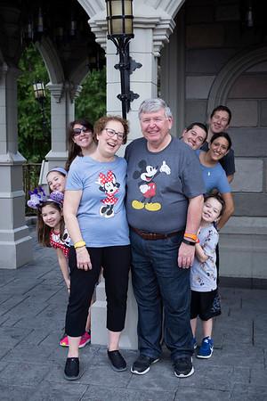 Melinda and Family at the Magic Kingdom