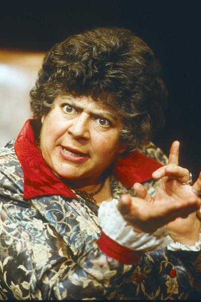 "Myriam Margoyles performing play ""Dicken's Women'  London 1991"