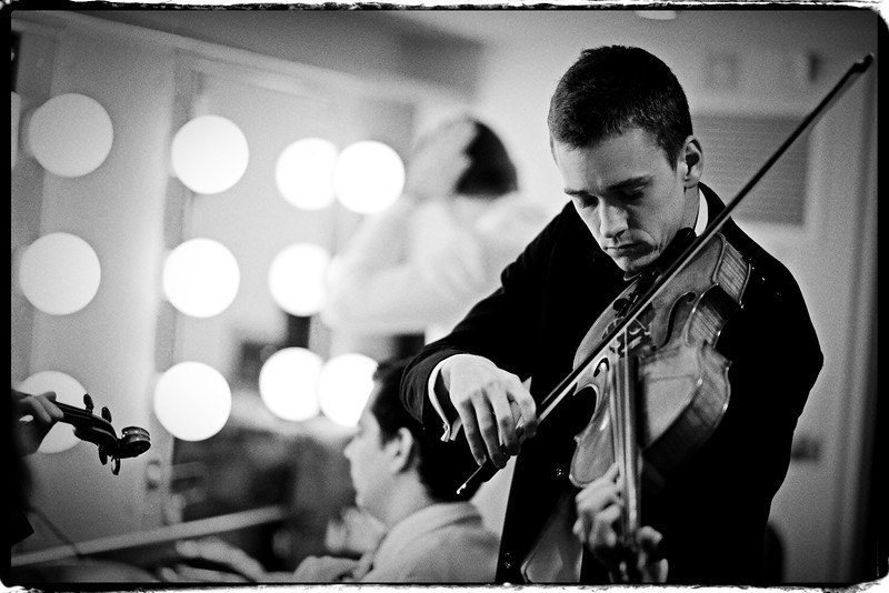 Samuel Lord backstage at Sydney Opera House (Mirusia's Salon Orchestra)