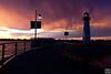 spectacular sunset after thunder storm