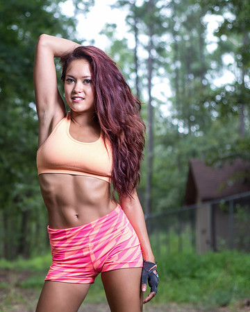 Portrait of Fitness Model and Professional Cheerleader Maya Rubio