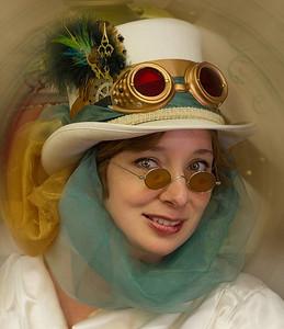 """The Time Traveler"" Taken at Steampunk Show at Renningers, Mt Dora, FL."