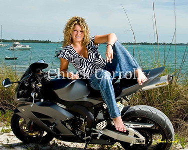 Motorcycle Portraits , Cristina & Mike - Motorcycle Beach Portraits - Anna Maria Island