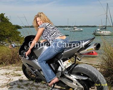 Motorcycle Portraits , Cristina & Mike - Motorcycle Beach Portraits - Anna Maria Island